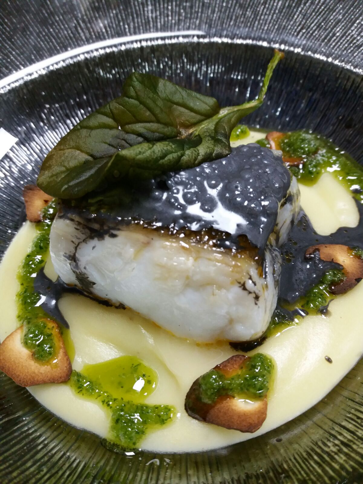 cod with black pudding at Eboka restaurant