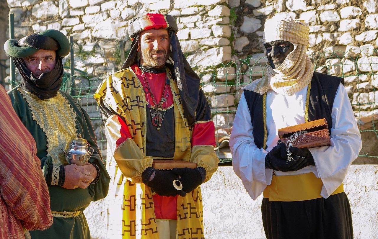arrival of three kings parade in Malaga