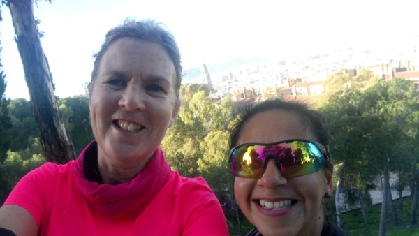 Joanna and Vicky on Malaga running tours