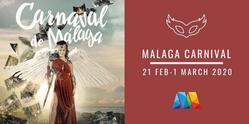 poster and dates for Malaga Carnival 2020