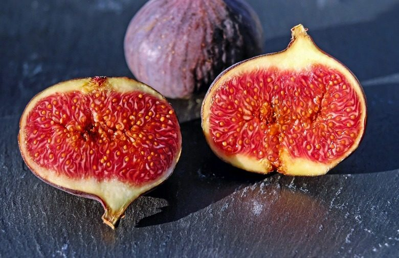ripened and opened figs