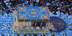 Throne in Holy Week procession in Malaga
