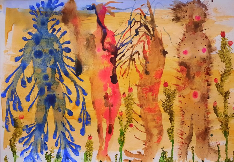 watercolour by Miquel Barceló at the Picasso Museum Malaga