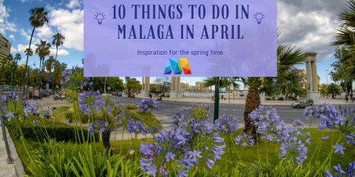 Flowers in bloom. 1 of the great things to see in Malaga in April