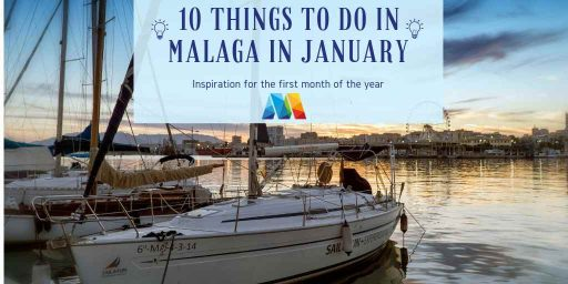 winter sunset over Malaga Port, 1 of the fun things to do in Malaga in January