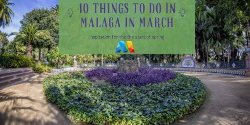 View of a sculptures in park, just 1 of the things to do in Malaga in March