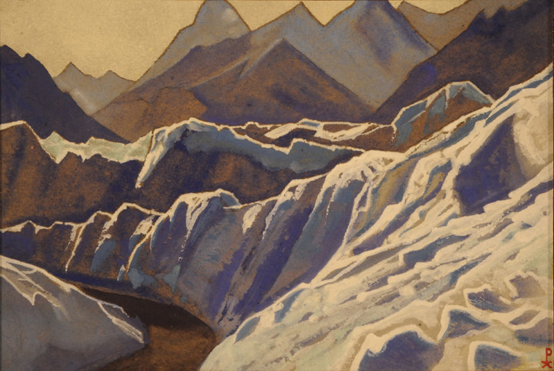 Roerich's views of the Himalayas, see it during autumn in Malaga