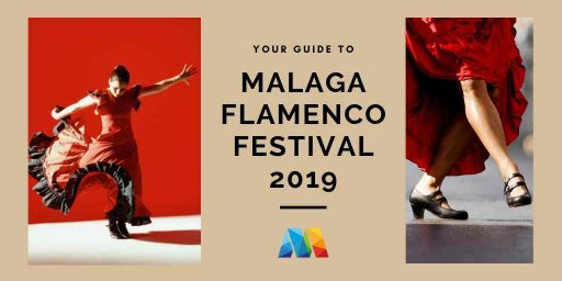 2 scenes of flamenco dancers as part of the Malaga Flamenco Festival