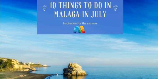 Peñon del Cuervo beach as 1 of the things to do in Malaga in July