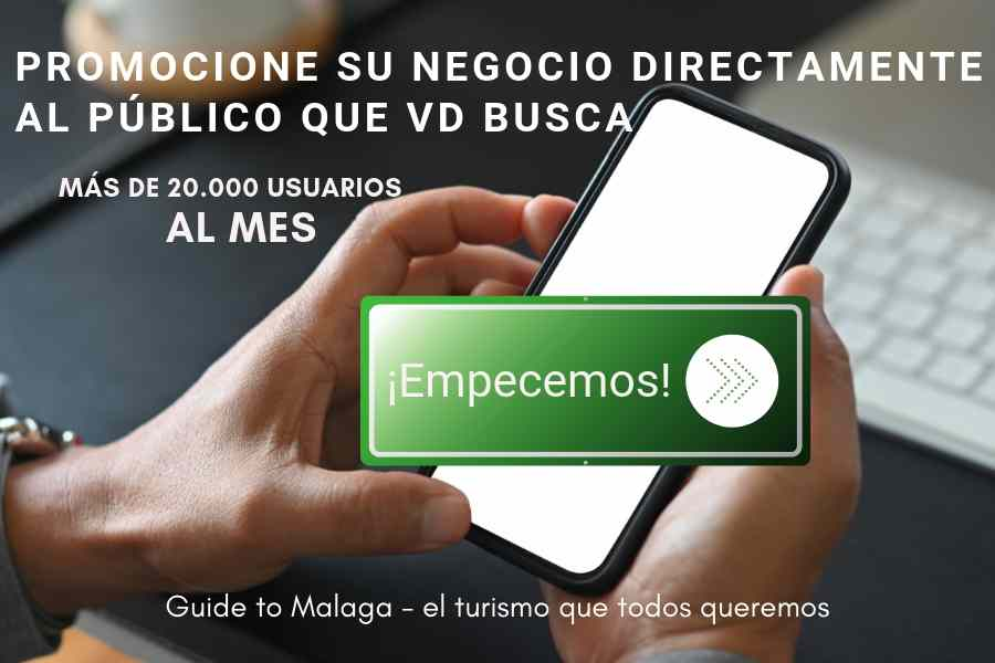 banner for advertisers on Guide to Malaga with green CTA button