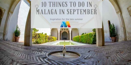 Alcazaba patio, one of the things to do in Malaga in September