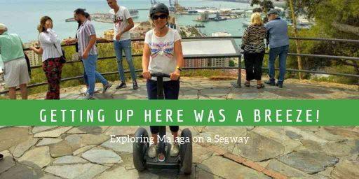 On the Gibralfaro mirador as part of a Malaga Segway tour