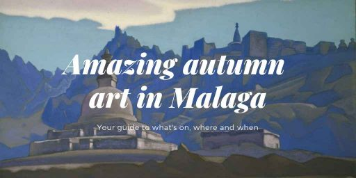 Work by Roerich as a backdrop to the amazing autumn art in Malaga