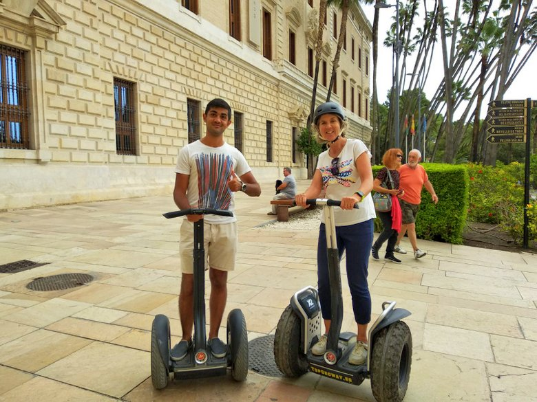 Outside the Museum of Malaga on a Segway Tour