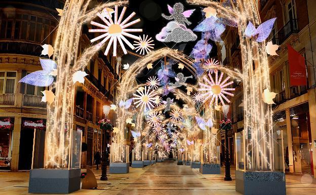 artist's impression of the 2019 Malaga Christmas lights