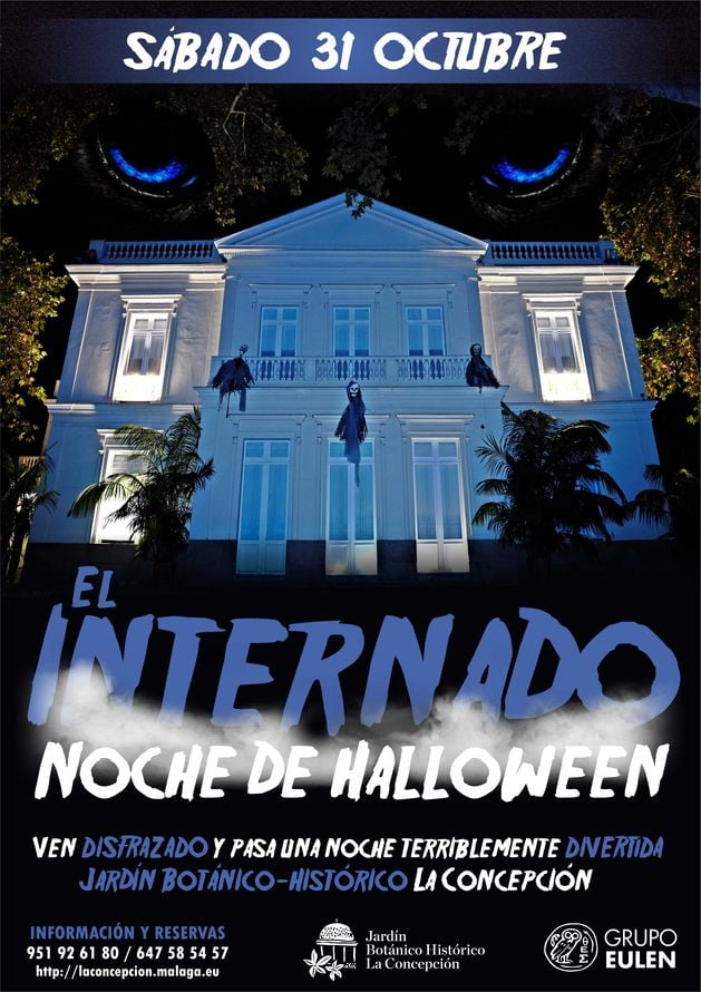 poster for Halloween in Malaga at the Botanical gardens