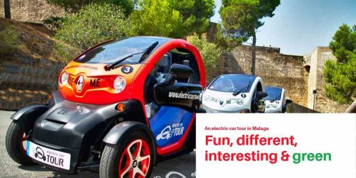 electric car tour in Malaga outside Alcazaba