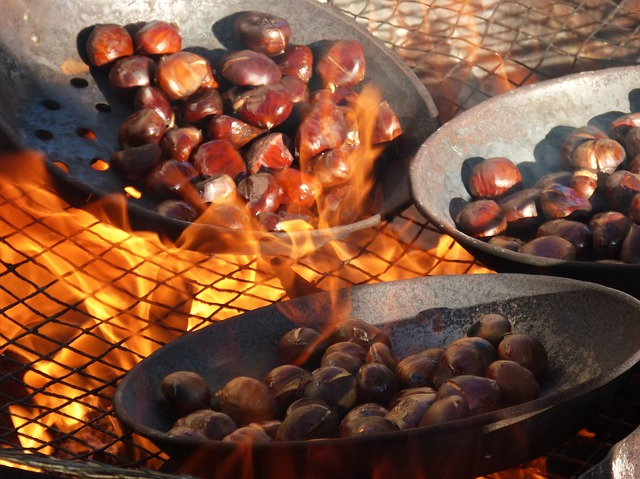 roast chestnuts for autumn in Malaga