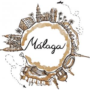 Malaga landmarks t-shirt
