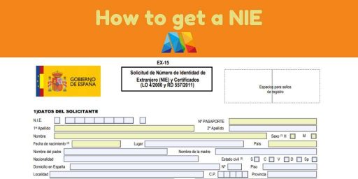 form for getting a NIE in Malaga