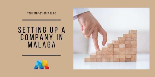 fingers walking step by step to set up a company in Malaga