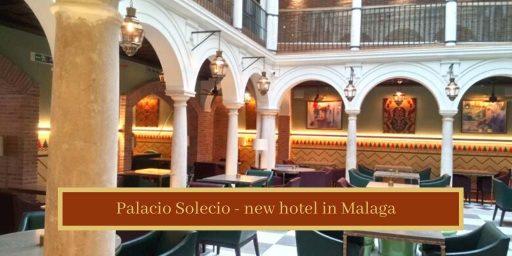 Restaurant patio at Palacio Solecio Hotel in Malaga