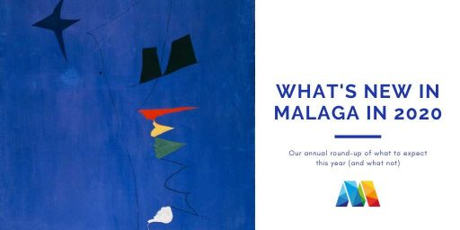 Miro painting as example of what's new in Malaga in 2020