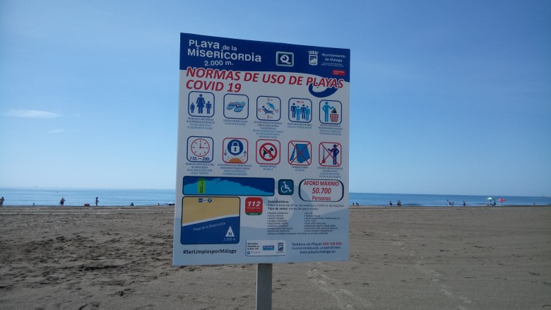 covid-19 rules on Malaga beaches