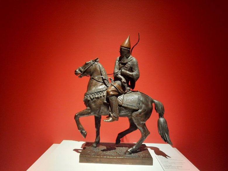 Russian Warrior by Piotr Klodt at the Russian Museum Malaga