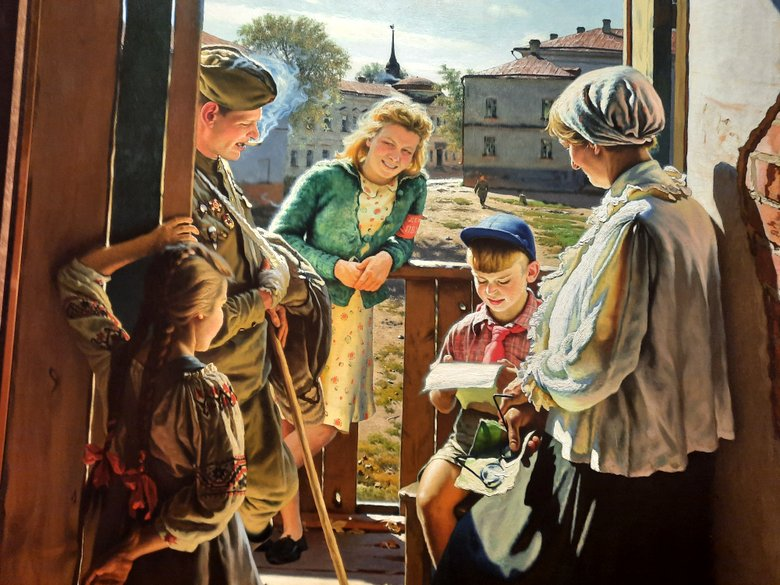 Letter from the Front by Alexander Laktionov