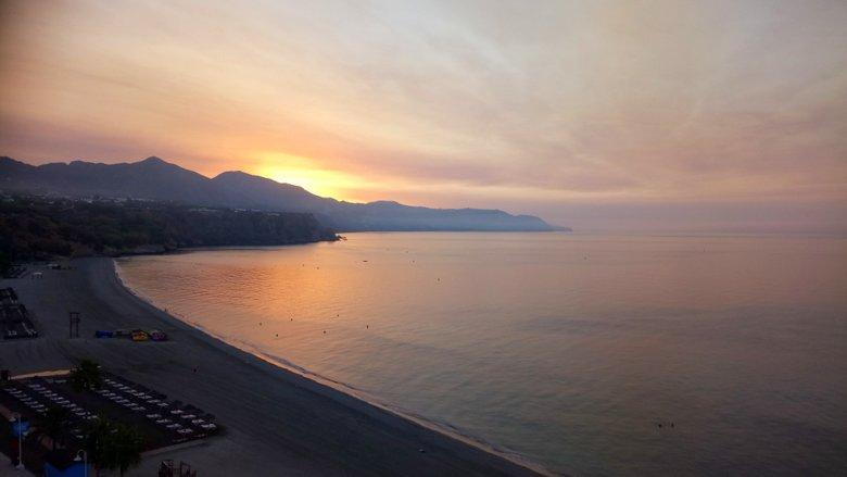 sunrise at Burriana Beach Nerja