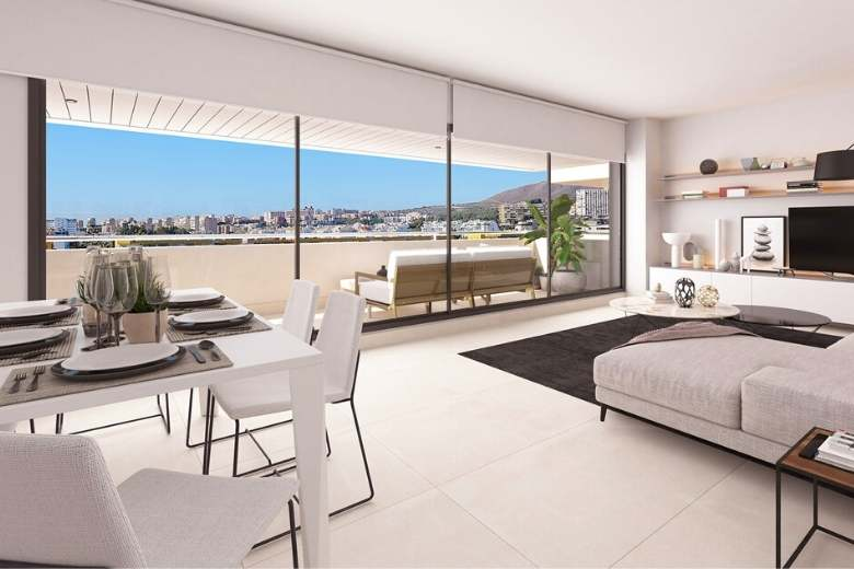 living space at one of the new developments in Malaga