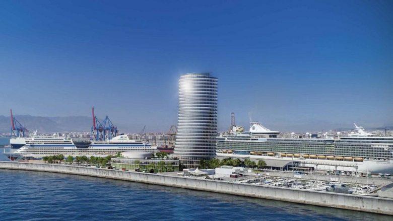artist's impression of new hotel in Malaga Port