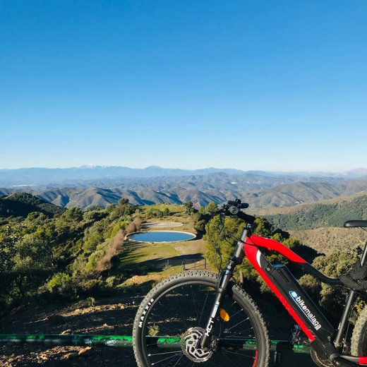 Mountain biking views on sporting activities in Malaga