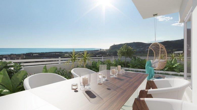 terrace at Naos, new developments in Malaga