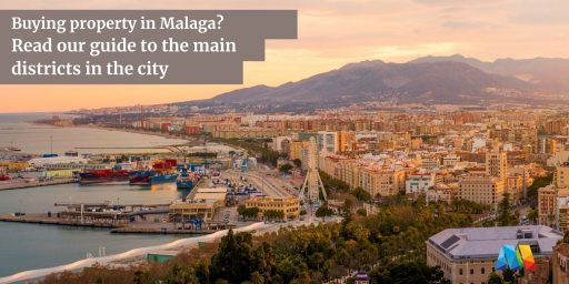 general view of main districts in Malaga