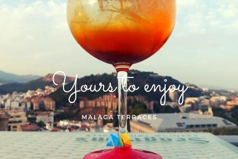 cocktail with a view in Malaga