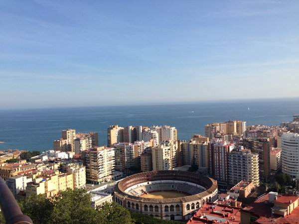 views of Malaga from the Gibralfaro
