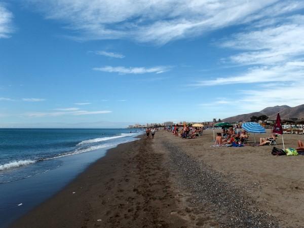 Guadalmar beach in Malaga