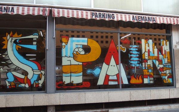 Spain logo in Malaga street art