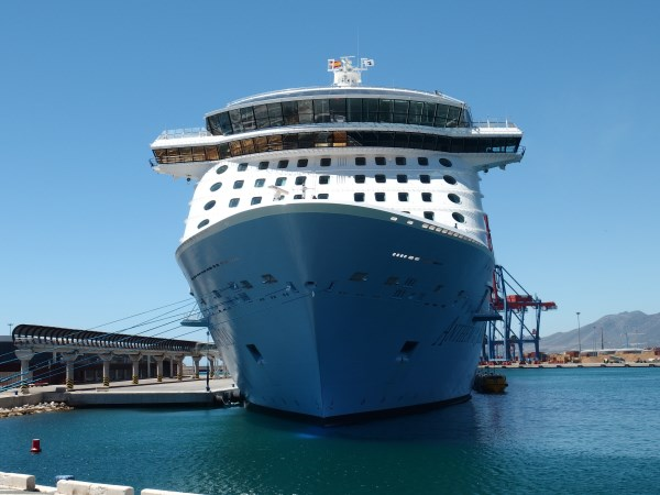 Anthem of the Seas, one of the biggest cruise ships in Malaga