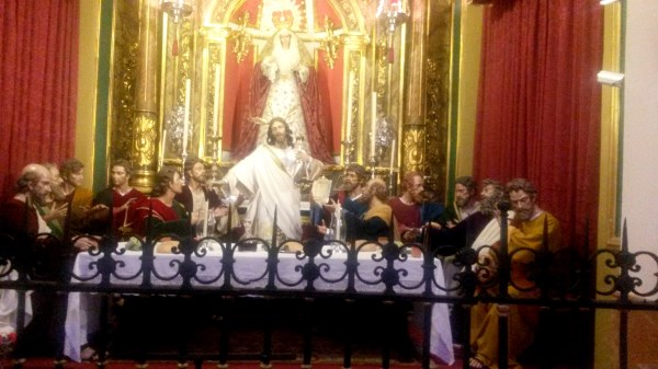 the heaviest throne at Easter in Malaga