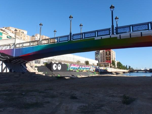 riverside art in Malaga